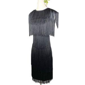 VTG Fringe Tiered Dress 20's Style Flapper